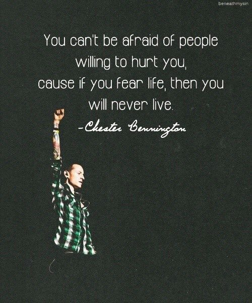 Rockstar Chester Bennington Quotes